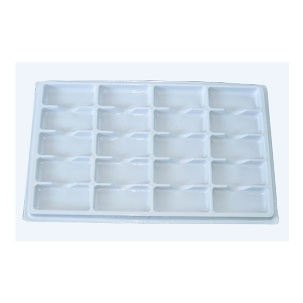 Eco friendly esd white ps tray customized size free tooling cost